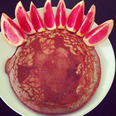 protein pancake, red grapefruit, breakfast