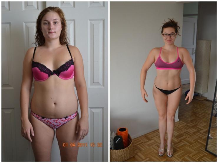 Vasemmalla 2011, painoi keikkui 72 kg korvilla. Oikealla kuukausi sitten.