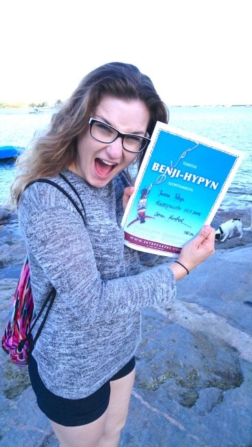 benji, benji-hyppy, Kaivopuisto, extreme, Janina Pohja, Fit Times, bloggaaja, itsensä ylitys